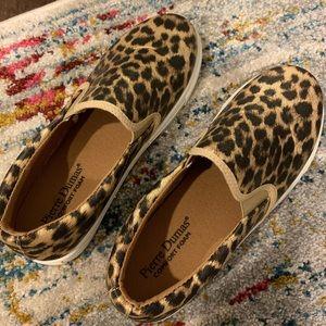 Cheetah slip on sneakers